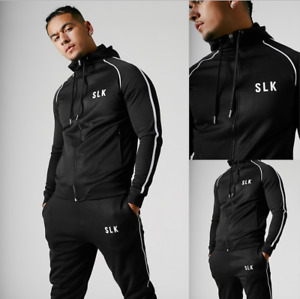 New Mens Tracktop Tracksuit Joggers No Included Gym Slim Hooded Fitness Hoodie
