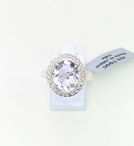 Rose De France Amethyst Gemstone Ring, Size U, Gems Tv/ Gemporia