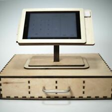 Square Pos Stand and Cash Box for iPad Mini 1, 2, 3 and 4 - Personalized gift.