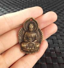 China's archaize brass Sakyamuni Buddha Small pendant