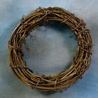 "TWO 8"" Twig Grapevine Wreaths Wedding Rustic Primitive Naturals"