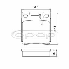 Bremsbelagsatz, Scheibenbremse, Hinterachse für Chrysler, Mercedes, BB08219