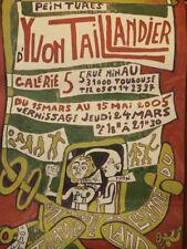 Yvon Taillandier Land Rare Affiche D'exposition Peinture Galerie 5 Toulouse 2005