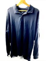 5.11 511 Tactical Series Men's Performance Long Sleeve Polo Shirt XL Black EUC