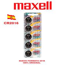 PILA BATERÍA MAXELL CR2016 LITIO LITHIUM BATTERY PACK BLISTER 5 PILAS MAXELL