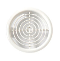 6 x AIR VENTS - SOFFIT LOUVRE WHITE PUSH FIT FOR 100mm DIAMETER HOLE -New