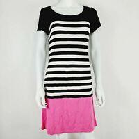 Betty Barclay Dress Black White Stripe & Pink UK 10