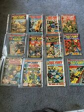16 Vintage Sgt Fury And His Howling Commandos Comic Book Lot 95,115,116,109,105