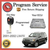 ✅ ECU ECM BCM Computer KEY PROGRAMMING SERVICE   Lexus LX470 2001 2002   01 02