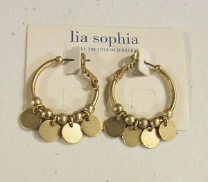 Lia Sophia Jewelry Tambourine Earrings in Matte Gold