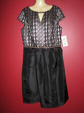 SANGRIA Women's Black/Stone Cap Sleeve Formal Dress - Size 14 - NWT