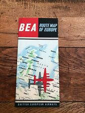 More details for vintage british european airways  - route map of europe !