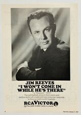 JIM REEVES 1967 original POSTER ADVERT WON'T COME IN rca vicor