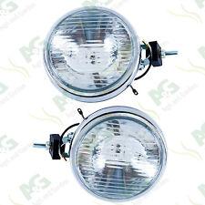 """X 2 Chromed Driving Lights 4x4 Spot Lamp 6"""" Slim Line"""
