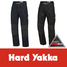 Hard Yakka (Denim) Jeans Legends ALL SIZES Cotton Blue Black Work Pants Y03041