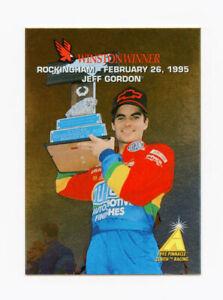 Jeff Gordon 1995 95 Zenith Winston Winners All Gold Foil Insert Card #2 Pinnacle