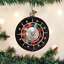 OLD WORLD CHRISTMAS ROULETTE WHEEL GLASS CHRISTMAS ORNAMENT 44093