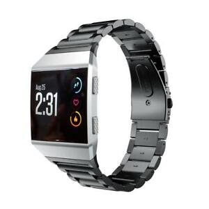 Replacement Link Metal Band for Fitbit Ionic Secure Strap UK Wristband Heavy
