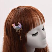 Lolita Girls Handmade Resin Hair Accessory Gradient Pearl Stars Tassel Hair Clip