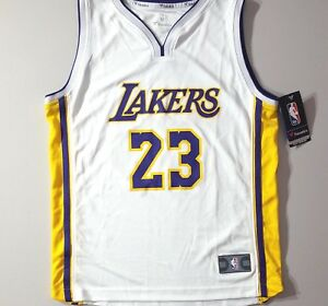 LeBron James Lakers YOUTH 'Association Edition' Fanatics Jersey Sz Large-1 Left!