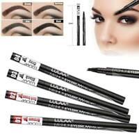 Eyebrow Ink Pen Microblading Tattoo Brow Pen Waterproof 4 Fork Tip Brow Make Up