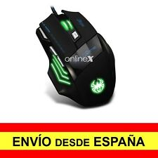 Raton Cable Gaming Mouse optico 7200 Dpi usb Negro  a2748