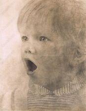 """Hendrickson Original Photo SEPIA VERY SURPISED/SHOCKED CUTE TODDLER 11x14"""""""
