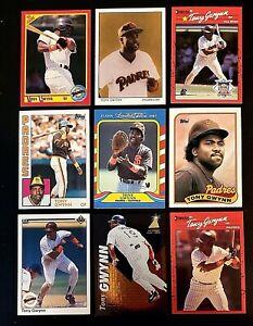 Lot of 9 TONY GWYNN baseball Cards.. San Diego PADRES  Superstar.