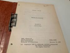 1968 Star Trek Requiem For Methuselah Final Draft Script , Story Outline- Bixby