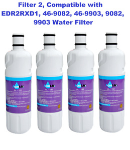 Fit Ice & Water Refrigerator Filter 2 EDR2RXD1 Ice and Water Refrigerator Filter
