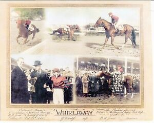 """1942 - WHIRLAWAY - 5 Photo Pimlico Special Composite - 10"""" x 8"""""""