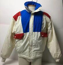 Vtg SUNICE Mens ULTREX 1988 Calgary Winter Olympics ABC Jacket Sz M Puff White