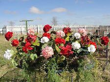 "Mothers Day Outdoor Window Box Silk Geraniums Combo Flower Arrangements 38-42""L"