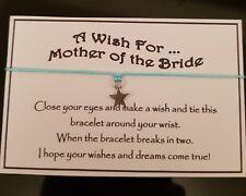 Mother Of The Bride * Wish Bracelet * Star Charm * Wedding * Gift * Mum
