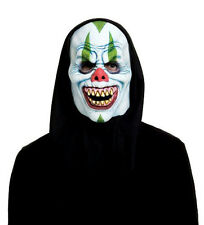 Cackles the Clown Adult Foam Face Black Hooded Character Mask