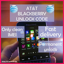 AT&T BLACKBERRY FAST UNLOCK CODE/SERVICE ALL MODELS BOLD CURVE 9900 Z10 Q10