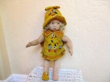 "Rare Antique And Beautiful Lenci Felt Doll 16"" Tall"