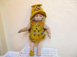 "Rare Antique And Beautiful Lenci Felt Doll 16"" Tall"