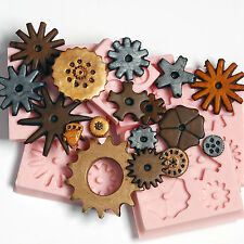 Silicone Steampunk Gear Cog Mold Set 6 Moulds Create 17 Gears Food Safe  (241)