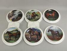 Lot of 6 Danbury Mint Horse Collector Plates - Citation, Man o' War, Ruffian, +
