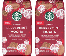 2pk Starbucks Holiday Peppermint Mocha Flavored Ground Coffee - 11 oz each
