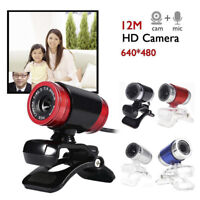 USB 2.0 720P HD WebCam Web Camera Video with Mic 360°for MSN Skype Desktops 3C