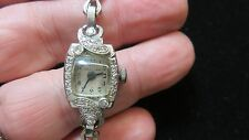 Art Deco~Jules Jurgensen~Diamonds+14K Gold~Lady's Bracelet Watch~Estate~1940's~