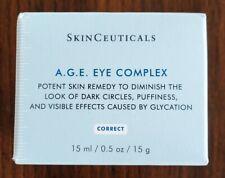 SKINCEUTICALS A.G.E. AGE EYE COMPLEX CREAM FULL SIZE .5 OZ AUTHENTIC SEALED BOX