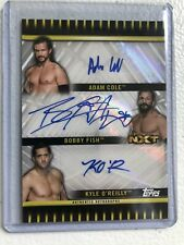 ADAM COLE BOBBY FISH KYLE O'REILLY 2018 TOPPS UNDISPUTED NXT WWE TRIPLE AUTO /25