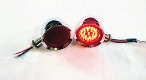 "Tail lights 3"" Universal Hotrod Custom 1157 LED Chevy,Ford,Dodge,Buick,Custom"