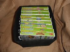 lot of 9 leapster  learning games  with fabric foldable case