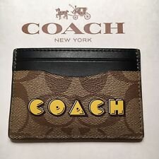 NWT Coach Card Case in Signature Canvas With Pac-Man Animation F68632