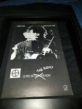 Jimmy Page Wasting My Time Rare Original Radio Promo Poster Ad Framed!
