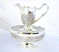 wash cup set Hand Washing Last water netilat Yadayim Silver platin Jerusalem
